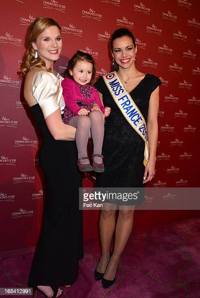TV presenter France Pierron her daughter and Miss France 2013 Marine Lorphelin attend the 'Cravaches D'Or' Awards 2013 At Theatre des Champs Elysees...