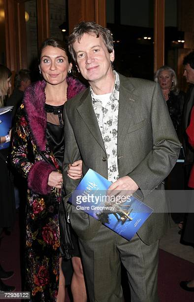 TV presenter Frank Skinner and his guest arrive at the VIP performance of Cirque Du Soleil's 'Alegria' at Royal Albert Hall on January 5 2007 in...