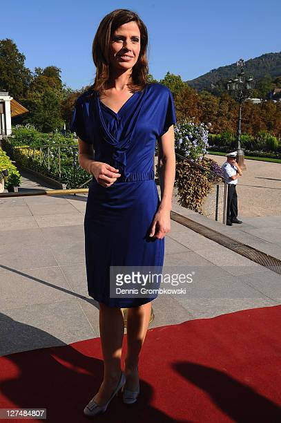 Presenter Franziska Schenk attends the DOSB celebrations to 30 years Olympic Congress on September 28 2011 in BadenBaden Germany