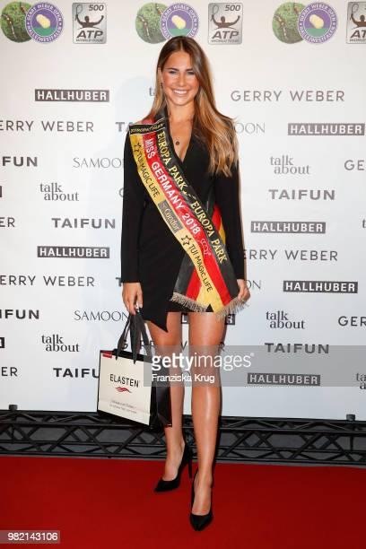 Presenter Franziska Schenk attends the Gerry Weber Open Fashion Night 2018 at Gerry Weber Stadium on June 23 2018 in Halle Germany