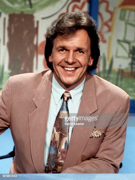 Presenter Fritz Egner on a TV show in Germany c 1989.