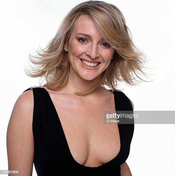 Presenter Gabby Logan poses for a portrait shoot in London