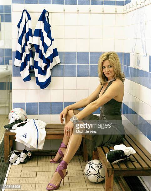 Presenter Gabby Logan poses for a portrait shoot on June 12 2004 in London