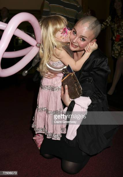 TV presenter Gail Porter and her daughter Honey arrive at the VIP performance of Cirque Du Soleil's 'Alegria' at Royal Albert Hall on January 5 2007...