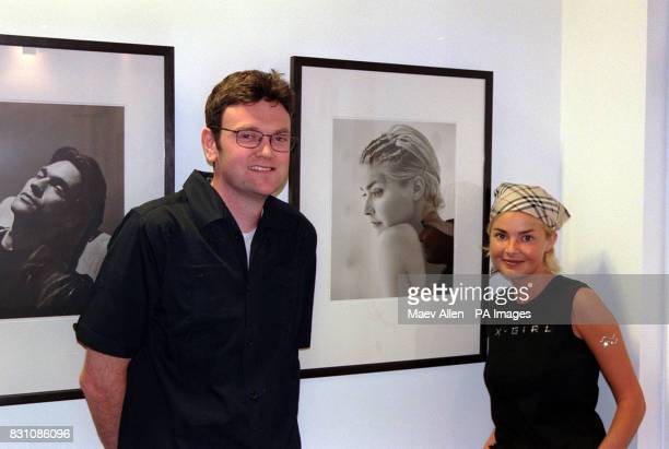 TV presenter Gail Porter stands in front of a portrait of herself taken by Donald MacLellan at an exhibition of his photography at the National...