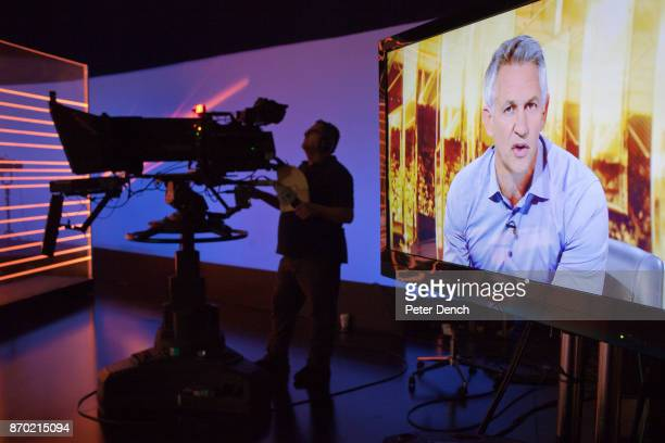 MOTD presenter Gary Lineker rehearses on set Match of the Day is the BBC's main football television programme Typically it is shown on BBC One on...