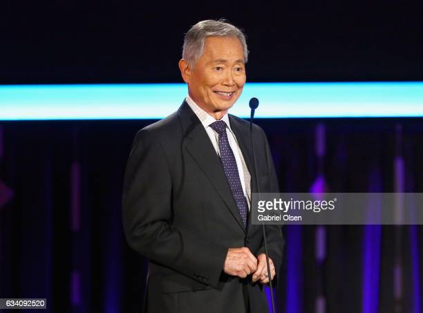 Presenter George Takei speaks onstage at the 16th Annual AARP The Magazine's Movies For Grownups Awards at the Beverly Wilshire Four Seasons Hotel on...