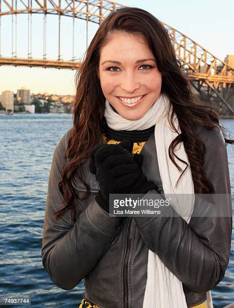 Presenter Giaan Rooney prepares to go live onair as part of the Today Show 25th birthday celebrations outside the Sydney Opera House on June 28 2007...