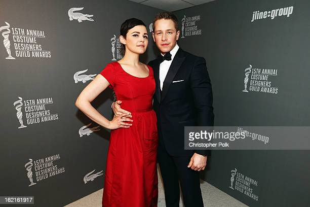 Presenter Ginnifer Goodwin and actor Josh Dallas attend the 15th Annual Costume Designers Guild Awards with presenting sponsor Lacoste at The Beverly...
