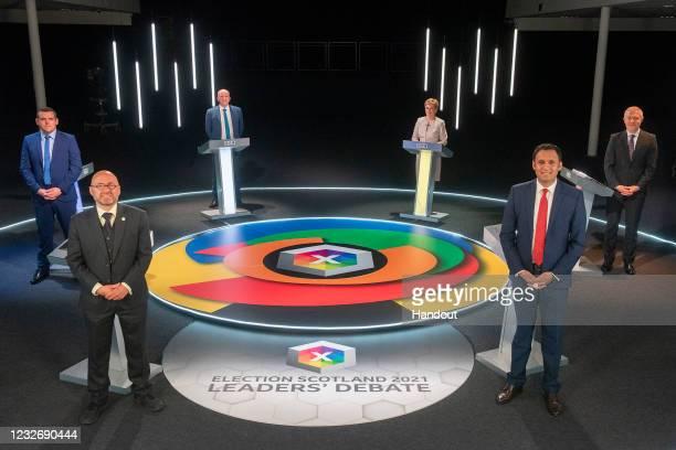 Presenter Glenn Campbell, Nicola Sturgeon Scottish National Party, Willie Rennie Scottish Liberal Democrats, Anas Sarwar Scottish Labour, Patrick...