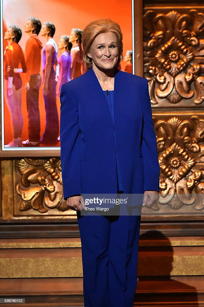 Presenter Glenn Close speaks onstage during the 70th Annual Tony Awards at The Beacon Theatre on June 12, 2016 in New York City.