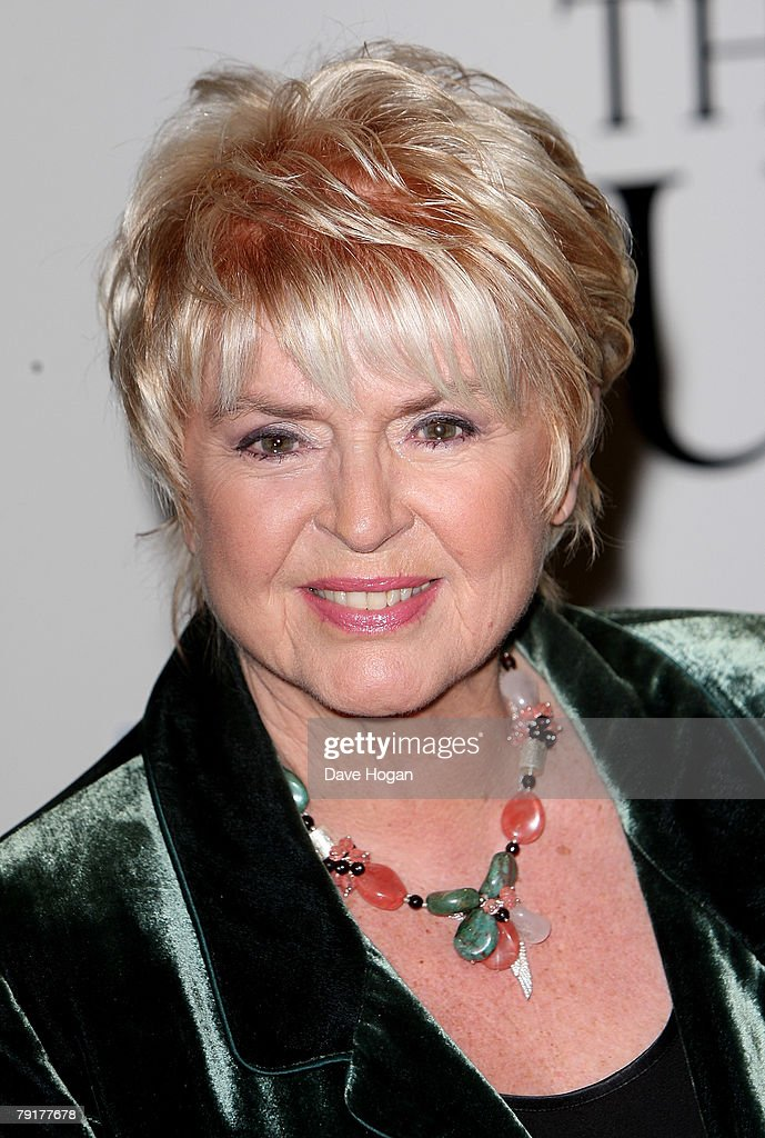 TV presenter Gloria Hunniford arrives at the UK premiere of 'The Bucket List' at the Vue cinema, Leicester Square on January 23, 2008 in London, England.