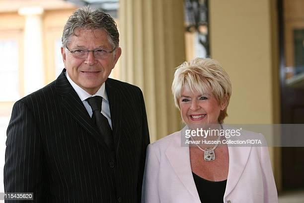TV presenter Gloria Hunniford arrives for a reception for those 'Serving Beyond Sixty' hosted by the Queen at Buckingham Palace on May 18 2006 Anwar...