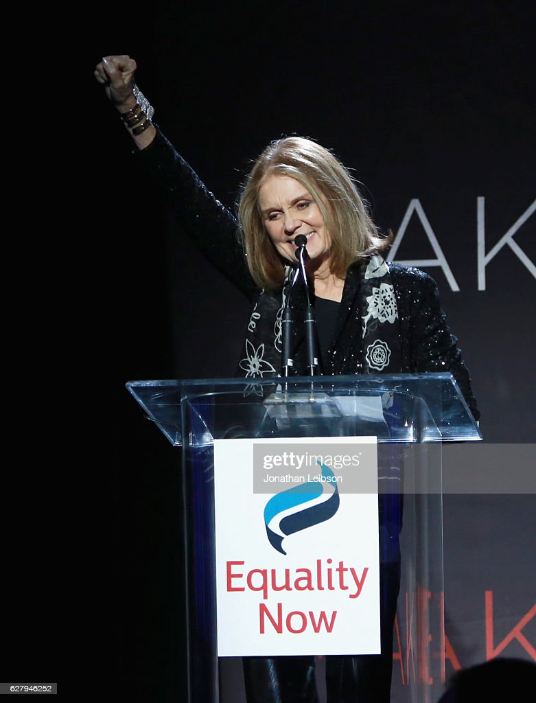 Presenter Gloria Steinem speaks onstage during Equality Now's third annual 'Make Equality Reality' gala on December 5, 2016 in Beverly Hills, California.