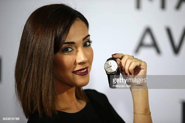 Presenter Graziella Kamel poses during the IWC Filmmaker Award Night 2015 at The One Only Royal Mirage on December 10 2015 in Dubai United Arab...