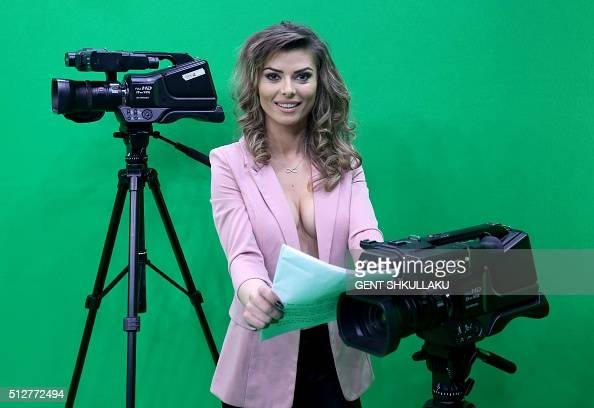 Albanian News Anchor ~ Blue