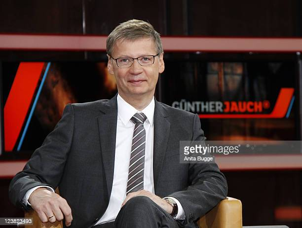 TV presenter Guenther Jauch presents his new talk show 'Guenther Jauch' on September 5 2011 in Berlin Germany