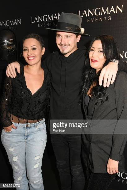 TV presenter Hedia Charmi Cris Cab and Karima Charmiattend the Star Wars Party at Le Saint Fiacre on December 12 2017 in Paris France