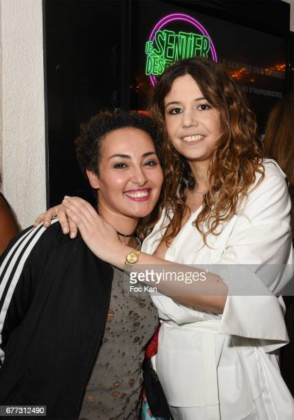 """Presenter Hedia Charni and Chanez attend """"Attachiante"""" Chanez Concert and Birthday Party at Sentier des Halles Club on May 2, 2017 in Paris, France."""