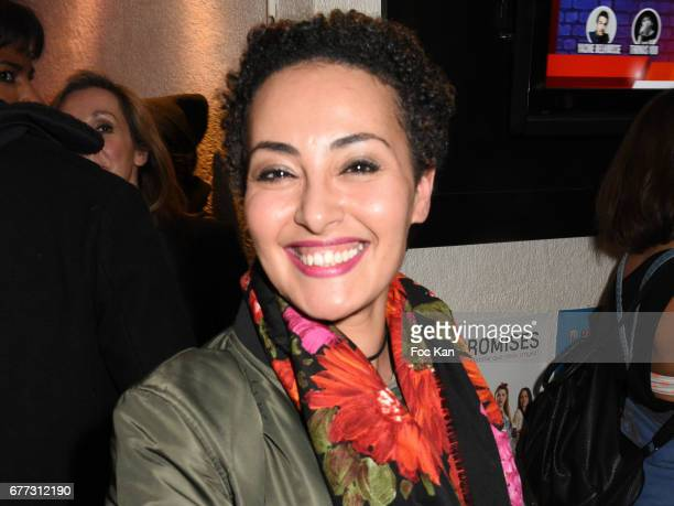 TV presenter Hedia Charni attends 'Attachiante' Chanez Concert and Birthday Party at Sentier des Halles Club on May 2 2017 in Paris France