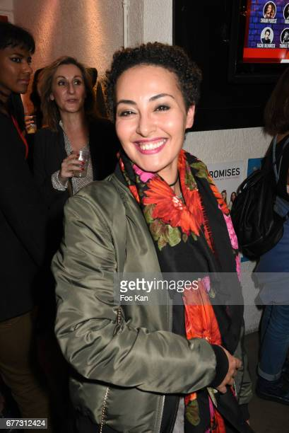 """Presenter Hedia Charni attends """"Attachiante"""" Chanez Concert and Birthday Party at Sentier des Halles Club on May 2, 2017 in Paris, France."""