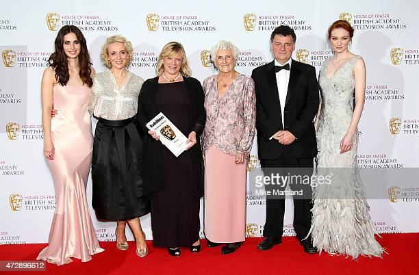 Presenter Heida Reed Amanda Abbington Sue Vertue Beryl Vertue and Steven Moffat winner of the Radio Times Audience Award for 'Sherlock' and presenter...