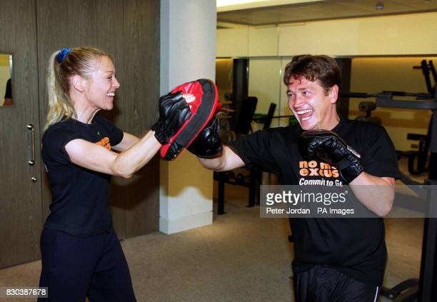TV presenter Helen Chamberlain and former EastEnders actor Sid Owen at the launch of the Fitness Industry Association's summer fitness event 'Commit...