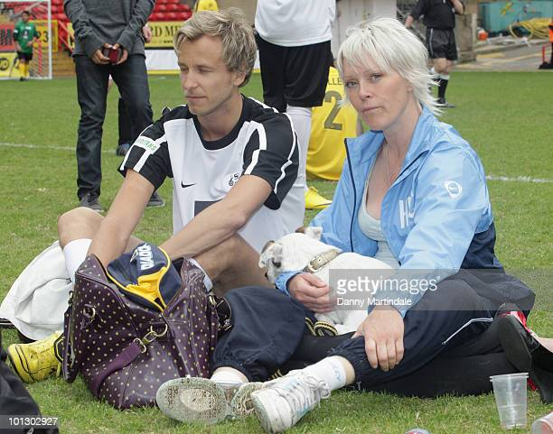 TV presenter Helen Chamberlain attends the Soccer Six 2010 at The Valley on May 31 2010 in London England