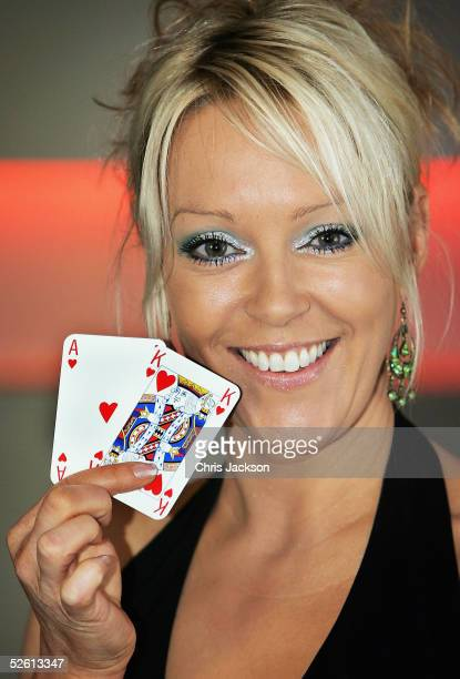 Presenter Helen Chamberlain launches the inaugural National Casino Week at The Whitehouse Clapham on April 11 2005 in London The event celebrates...