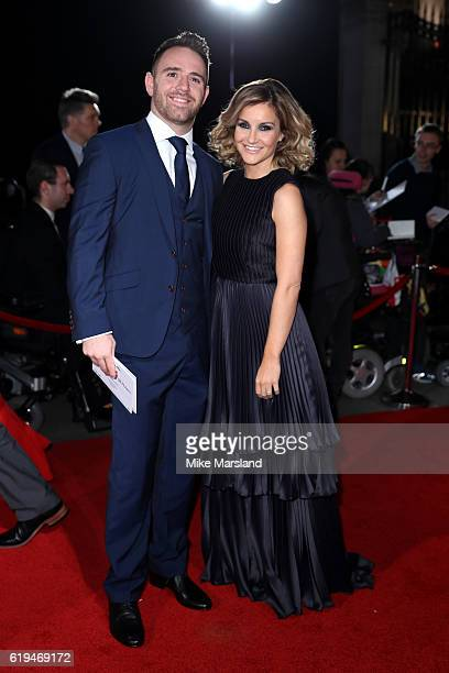 Presenter Helen Skelton and husband Richie Myler attend the Pride Of Britain Awards at The Grosvenor House Hotel on October 31 2016 in London England