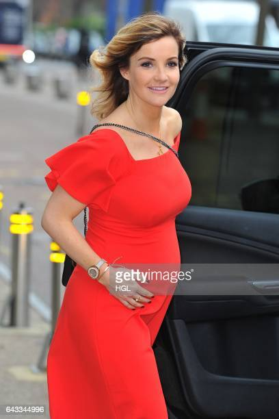 TV presenter Helen Skelton seen showing off her Baby Bump outside the iTV Studios on February 21 2017 in London England