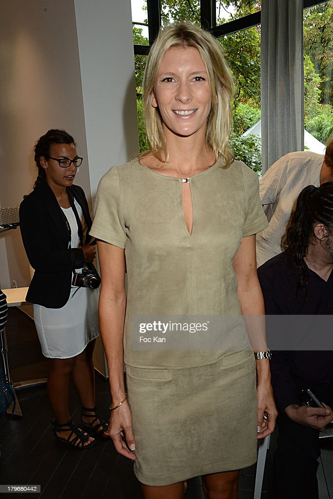 TV presenter Helene Boucher attends the Duo Delice Dog Food Launch Party at 6 Mandel on September 6, 2013 in Paris, France.