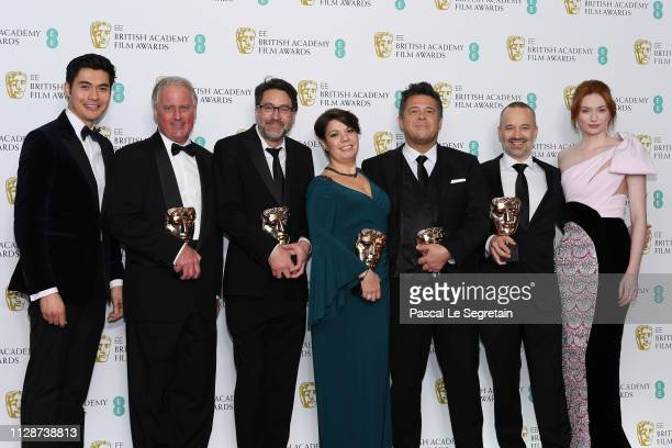Presenter Henry Golding winners of the Sound award for Bohemian Rhapsody Paul Massey John Lasau Nina Hartstone Tim Cavagin John Warhurst and...