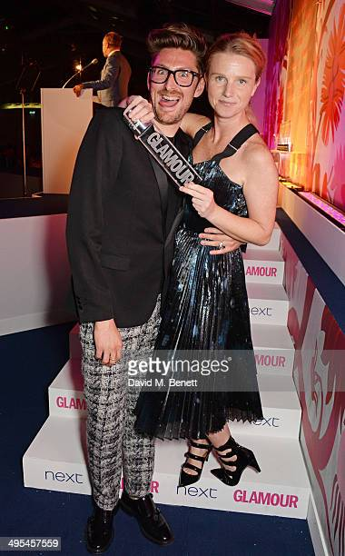 Presenter Henry Holland and Accessories Designer award winner Katie Hillier pose at the Glamour Women of the Year Awards in Berkeley Square Gardens...