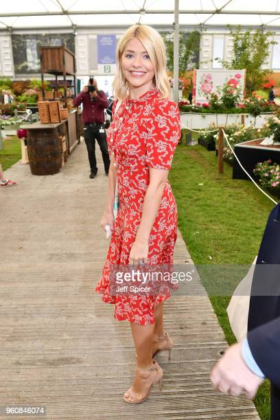 Presenter Holly Willoughby attends the Chelsea Flower Show 2018 on May 21 2018 in London England