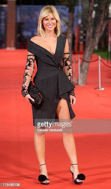TV presenter Ingrid Muccitelli attends the Triage Premiere during Day 1 of the 4th Rome International Film Festival held at the Auditorium Parco...