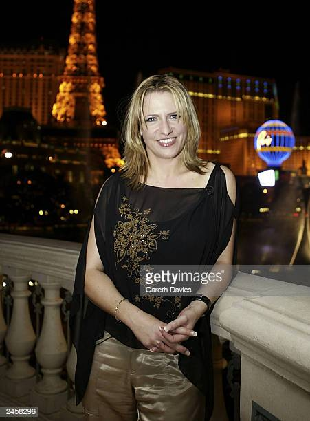 Presenter Jackie Brambles at the Bellagio Hotel September 2, 2003 in Las Vegas, Nevada. GMTv Viva Las Vegas will be broadcasting a live show on...