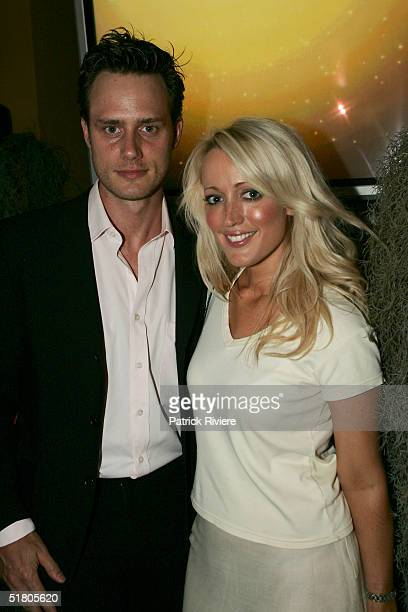 TV presenter Jackie O and husband Ed Henderson attends the launch of the Summer season of Foxtel Digital at The Loft November 30 2004 in Sydney...