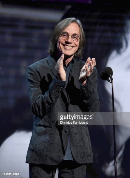Presenter Jackson Browne speaks onstage at the 32nd Annual Rock Roll Hall Of Fame Induction Ceremony at Barclays Center on April 7 2017 in New York...