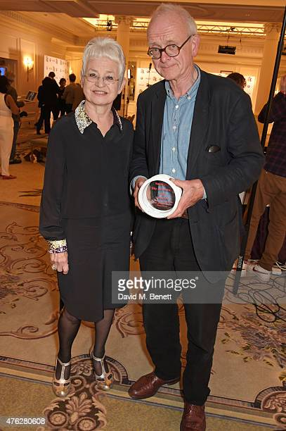 Presenter Jacqueline Wilson and Neurosurgeon/Writer Henry Marsh winner of the Literature award for 'Do No Harm Stories Of Life Death and Brain...
