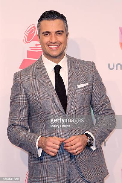 Presenter Jaime Camil poses in the press room during the 15th annual Latin GRAMMY Awards at the MGM Grand Garden Arena on November 20 2014 in Las...