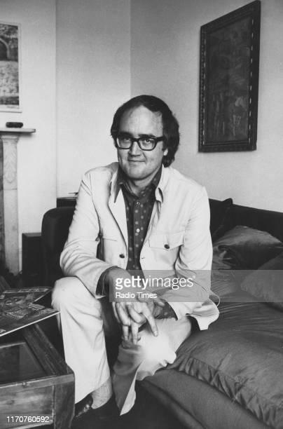 Presenter James Burke for the BBC television series 'The Burke Special', 1972.