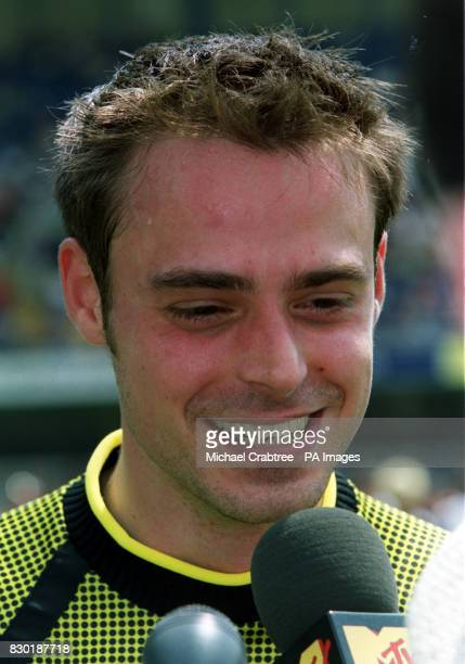 TV presenter Jamie Theakston at the Music Industry Soccer Six celebrity football tournament at Stamford Bridge