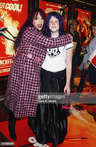 TV presenter Jane Goldman and daughter Betty Kitten arrive at the UK Premiere of the new Disney/Pixar animation 'The Incredibles' at the Empire...