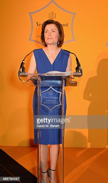 Presenter Jane Hill speaks at the Veuve Clicquot Business Woman Award at Claridges Hotel on May 12 2014 in London England