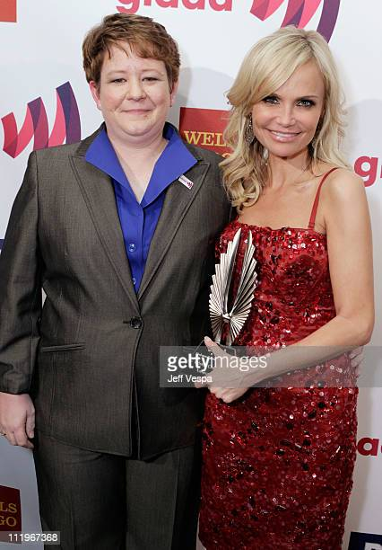Presenter Janice Langbehn and actress Kristin Chenoweth attend the 22nd Annual GLAAD Media Awards presented by ROKK Vodka at Los Angeles' Westin...