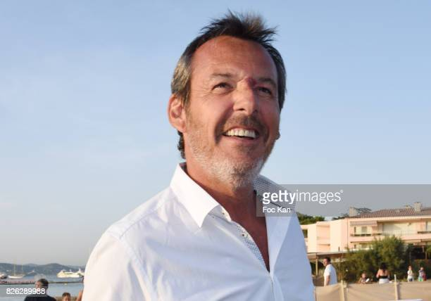 TV presenter Jean Luc Reichman attend the Fight Night Weighing Party at La Bouillabaisse Saint Tropez on August 3 2017 in SaintTropez France
