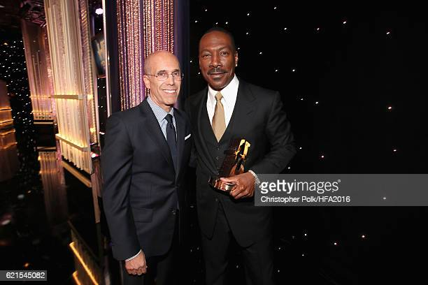 "Presenter Jeffrey Katzenberg and actor Eddie Murphy recipient of the ""Hollywood Career Achievement Award"" attend the 20th Annual Hollywood Film..."