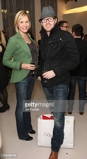 TV presenter Jenni Falconer and her husband actor James Midgley attend the 'Sex And The City 2' DVD Launch Party at the Swarovski Crystallized Lounge...
