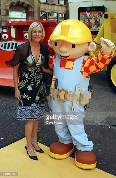 TV presenter Jenni Falconer arrives at the UK Premiere of Bob The Builder Built To Be Wild at the Odeon West End on July 2 2006 in London England